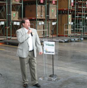 Mayor Joe McCourry speaks at a recent press conference announcing several new tenants are joining Grandscape.